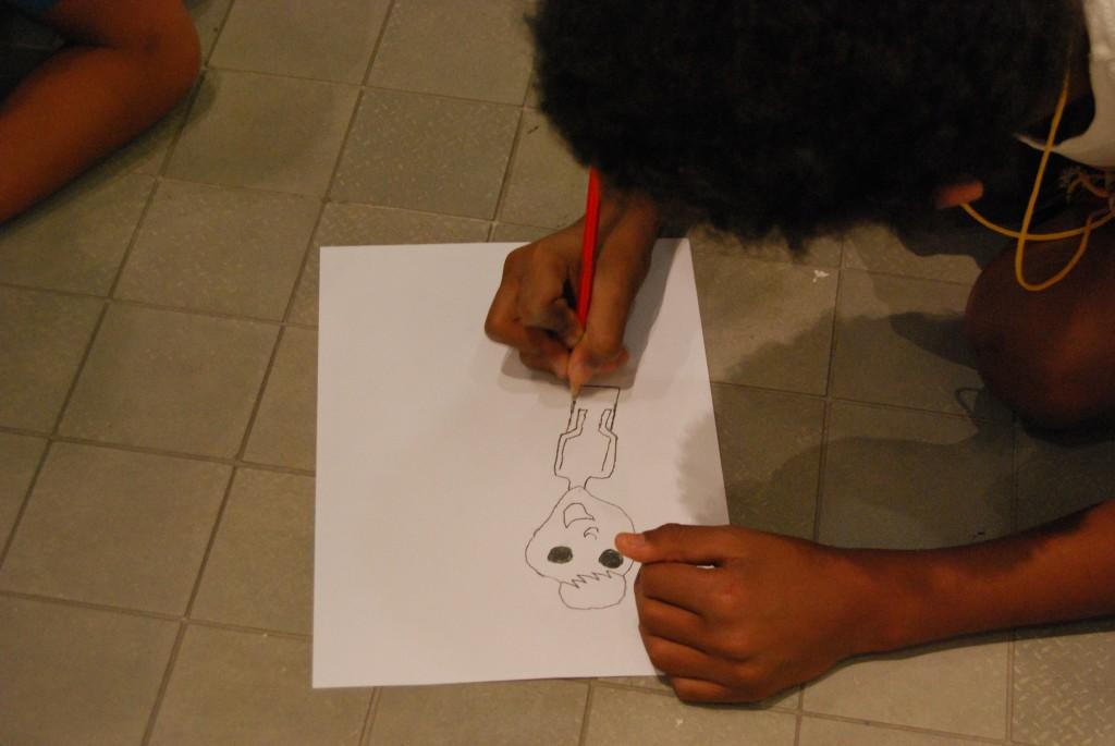 Realizando bocetos