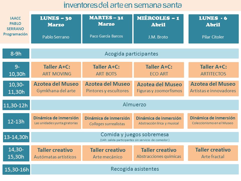programaIAACC_SemanaSanta2015