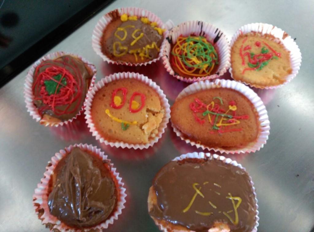 Los cup cakes elaborados