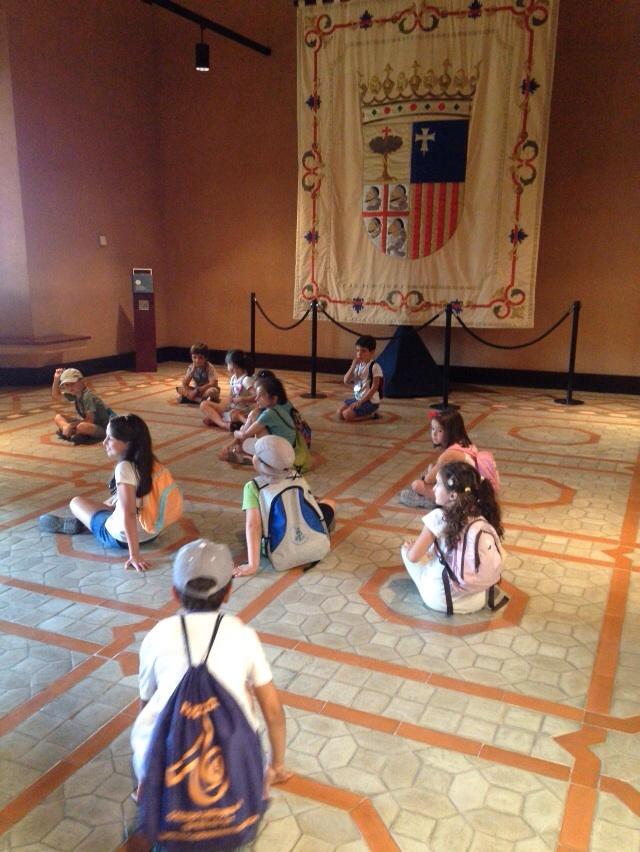 De visita al Palacio de La Aljafería